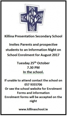 Open Night Tuesday 25th October